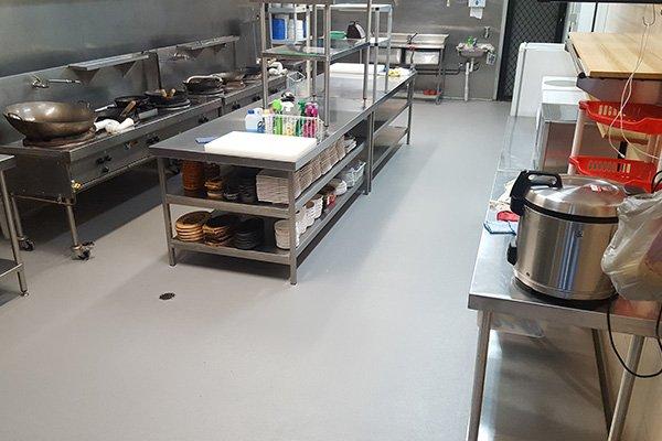 Commercial Kitchen Epoxy Floor Coatings Food Factory Flooring Commercial Bakery Flooring