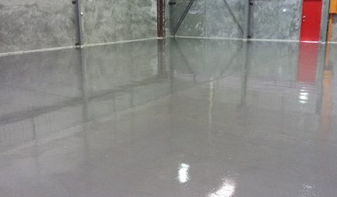 Epoxy Flooring in warehouse