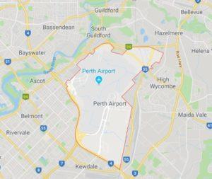 map of Perth Airport